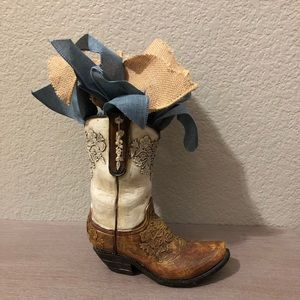 Western Cowboy Boot Decor